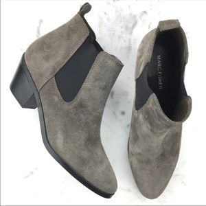 Suede Chelsea style booties by Marc Fisher Size 9
